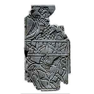 Placchetta d'avorio decorata a incisione