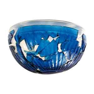 Coppa di vetro turchese