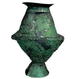 Vaso biconico di bronzo